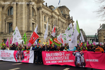 Demo Wir haben es satt, 2016 Berlin